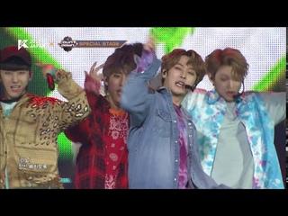 [KCON 2018 JAPAN] Jang Woo Young & Stray Kids l Hands Up