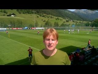 Иван Жидков – на тренировке сборной России в Австрии
