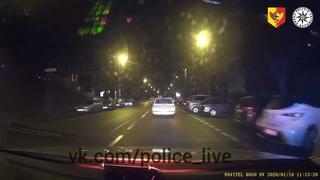 Погоня с ДТП за пьяным на Skoda Fabia , Прага , Чехия
