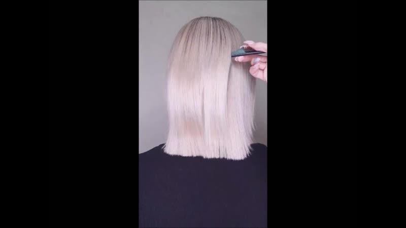 Идеальное каре блонд