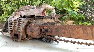 Restoration old gasoline ChainSaw STIHL   Restoring 2-Stroke Petrol Chain Saw