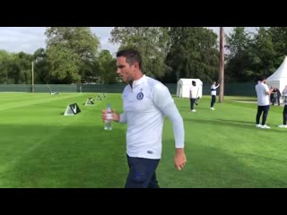 Frank Lampards first training session as head coach of Chelsea