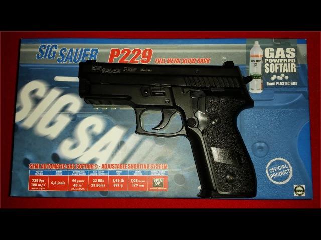 KJW Sig Sauer P229 6mm GBB Full Markings Review Schusstest german