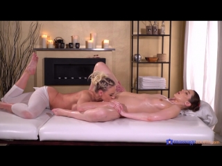 Massage Rooms - Hot blonde pleases young brunette (Nathaly Cherie, Sybil Kailena)