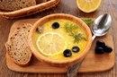 Куриный суп Греческий