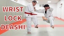 Japanese Jiujitsu wrist lock to Deashi