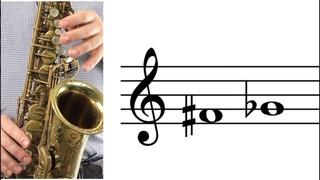 ALTO SAX: How to Play F-sharp (G-flat)