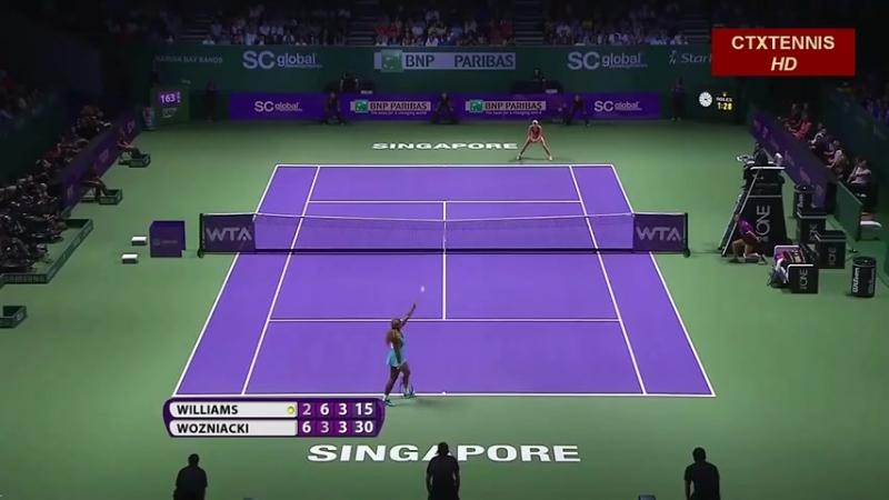 Serena Williams VS Caroline Wozniacki Highlight 2014 SF