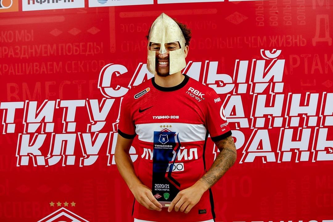 Спартак - Ахмат, 2:0. Джордан Ларссон