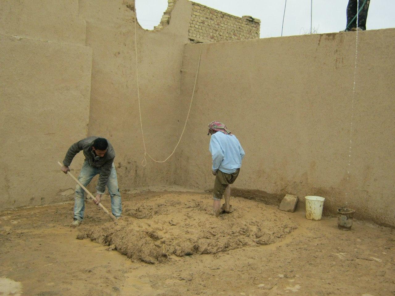 Замес строительного раствора по-ирански