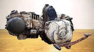 Restoration abandoned sports old engine | Full video of antique motorcycle engine restoration