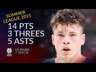 Sean McDermott 14 pts 3 threes 5 asts vs Spurs 2021 Summer League