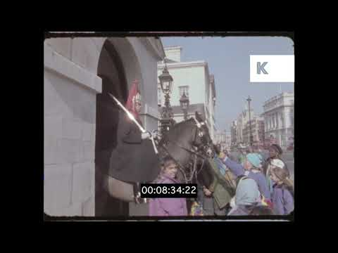 Whitehall The Cenotaph Admiralty Arch 1990s London in HD