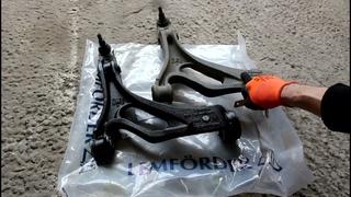 Замена переднего левого нижнего рычага на АУДИ Q7 2008 AUDI Q7 3,0 дизель
