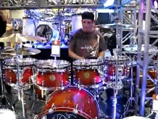 Drummer video_ namm 2008 - ddrum booth _ jammin on bubinga