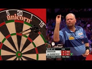 Gary Anderson vs Raymond van Barneveld (2014 Premier League Darts / Week 15)