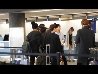 [FANCAM] 141028 BAEKHYUN & EXO-K arrival @ LAX Airport (departing to Mexico)