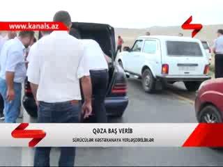 Prado ilə Mercedes toqquşdu - VİDEO
