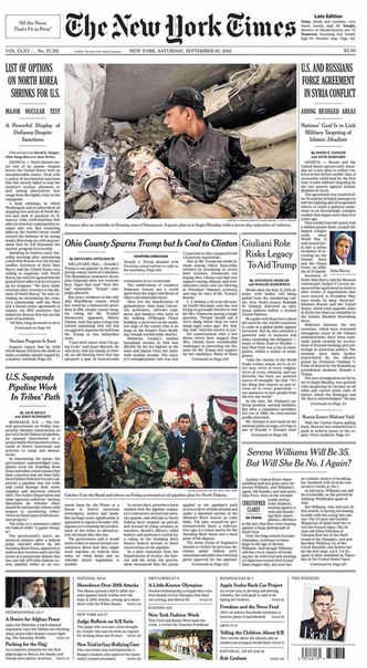 The New York Times  September 10 2016