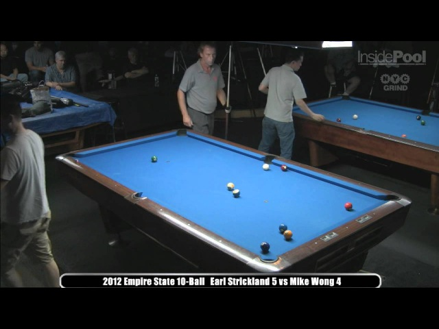 Earl Strickland vs. Mike Wong 2012 Empire State 10-Ball Championships at Raxx Pool Room
