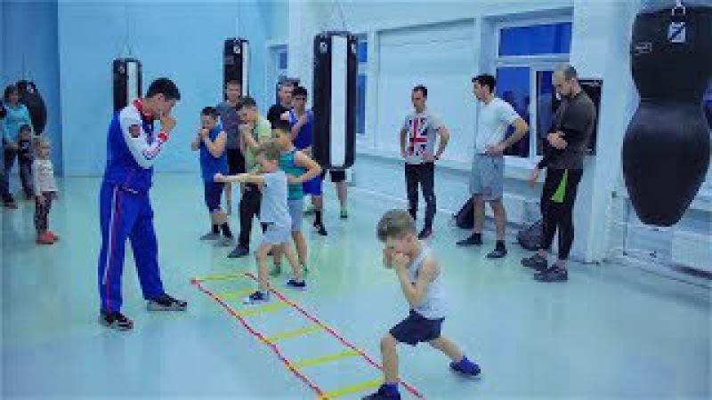 Открытая тренировка по боксу для детей и взрослых. Разминка кардио отработка т