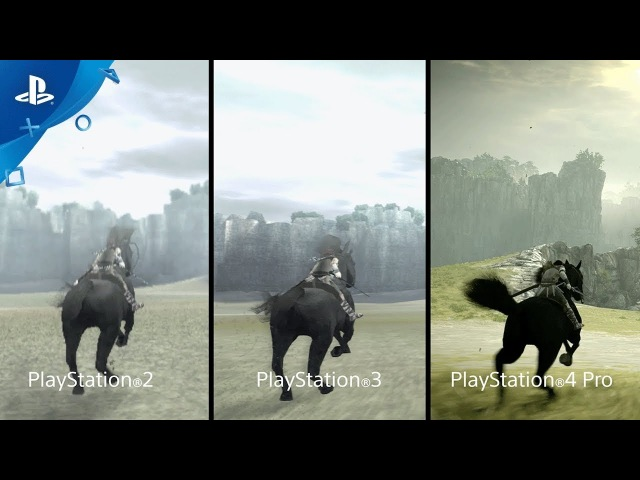 Shadow of the Colossus - PSX 2017: Comparison Trailer   PS4