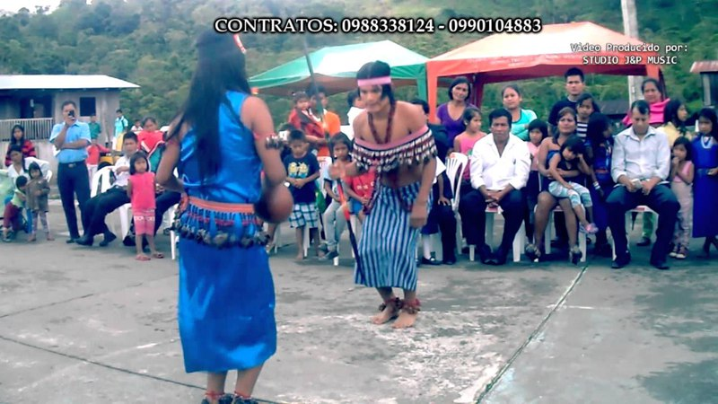 Danza Shuar племени Шуаров Yamaram tsawan 2018 Mendez Ecuador