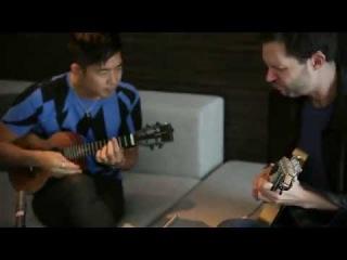 Jake Shimabukuro jamming with Paul Gilbert