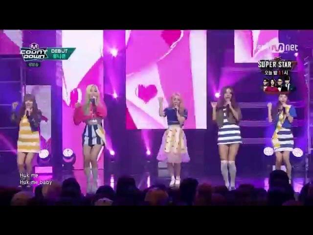 (150903) UNICORN (유니콘) - HUK (헉) @ Mnet M!COUNTDOWN