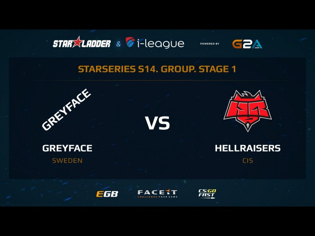 GreyFace vs Hellraisers - Map 2 - Dust 2 (SL i-League StarSeries XIV)