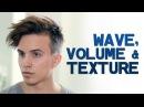 MENS HAIR STYLES | Creating Wave, Volume and Texture | Dre Drexler Undercut