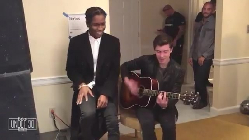 Shawns duet with @asvpxrocky at Forbes Festival yesterday in Philly