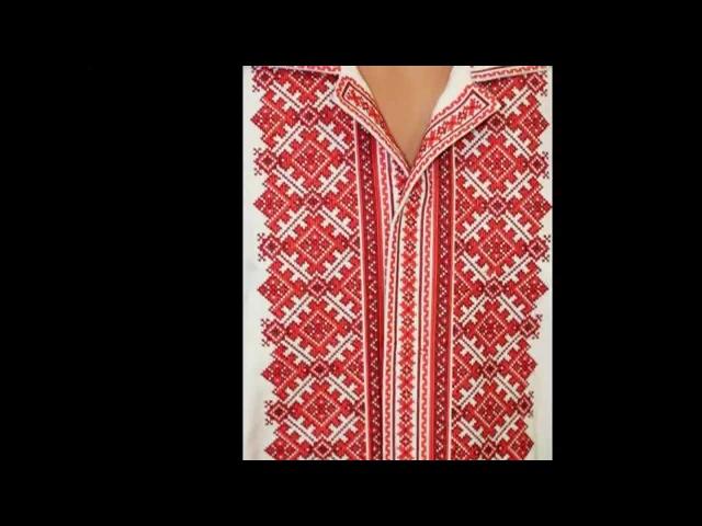 Вишивала дівчина вишиванку. The girl embroidered a shirt.