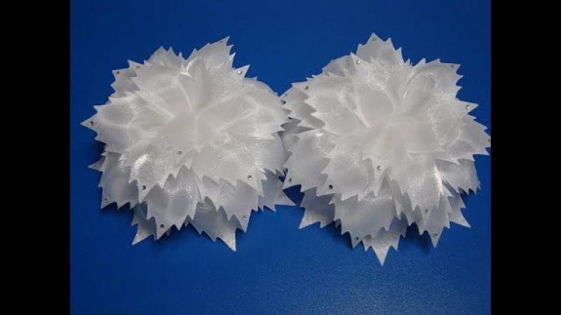 МК бантиков из ткани Гильоширование Большие банты в школу на 1сентября