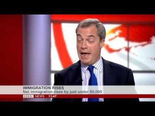 BBC News: Nigel Farage on UK's immigration numbers (27Nov14)