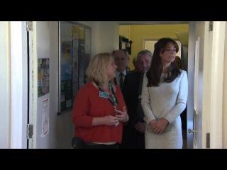 Duchess Kate in white tweed dress on women's prison visit!