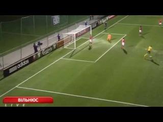 Lithuania vs Switzerland 1-2. Fedor Chernykh Goal. EURO Qualification 14/6/2015