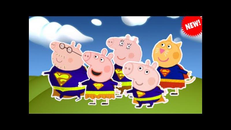 Peppa Pig em Português Brasil 2016 \ SUPERMAN Finger Family Learn Colors peppa Pig Home