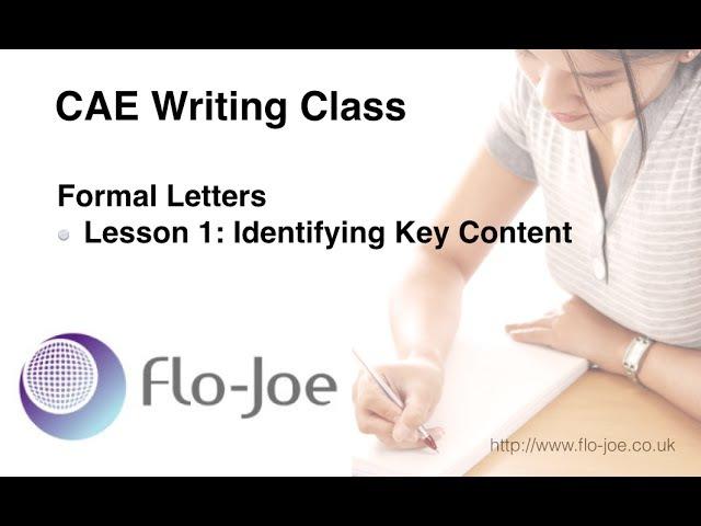 CAE Formal Letters 1 - Identifying Key Information