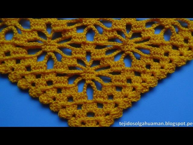 Chal tejido a crochet paso a paso en punto ARAÑAS video 1