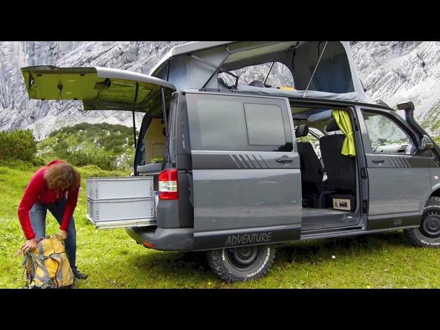 Extrem-Kletterer Stefan Glowacz trifft MultiCamper Adventure VW T5 Campingbus