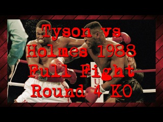 Mike Tyson vs Larry Holmes - Full Fight 1988 - Round 4 KO