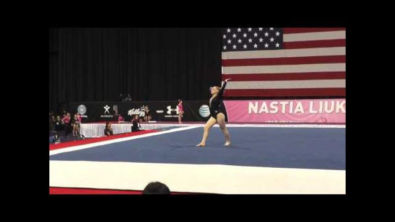 Kassidy Cumber – Floor Exercise – 2015 Nastia Liukin Cup