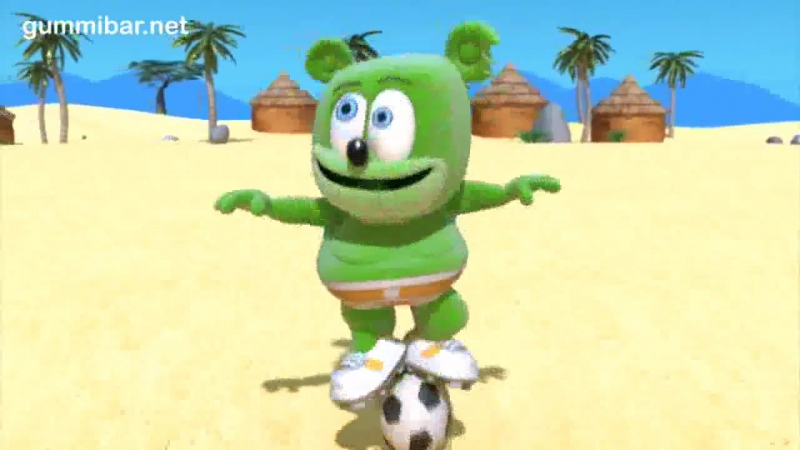 клипы для детей GummibГ¤r A Jugar World Cup Soccer Football Song Spanish Gummy Bear Osito Gominola