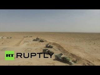 Беспилотник заснял наступление сирийской армии в Ракке