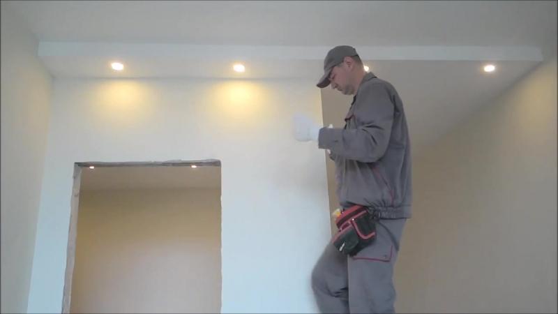 Установка точечных светильников LED