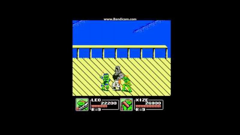 Teenage Mutant Ninja Turtles 3 игра на деньди