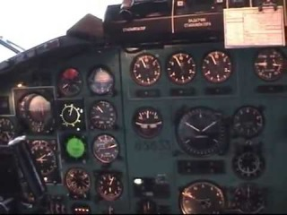 Ту-154м 85633: Полёт на север / Tupolev Tu-154: Flight to the North (cockpit view)