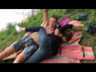 gets Ass fucked by friend in the park