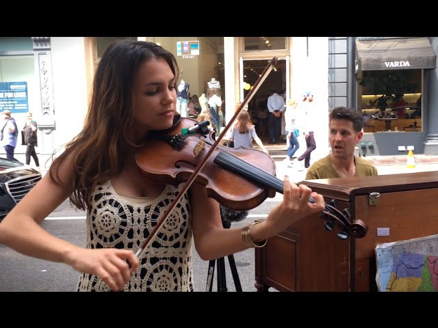 Spontaneous Street Piano and Violin Duet in New York City with Ada Pasternak - Pt 1